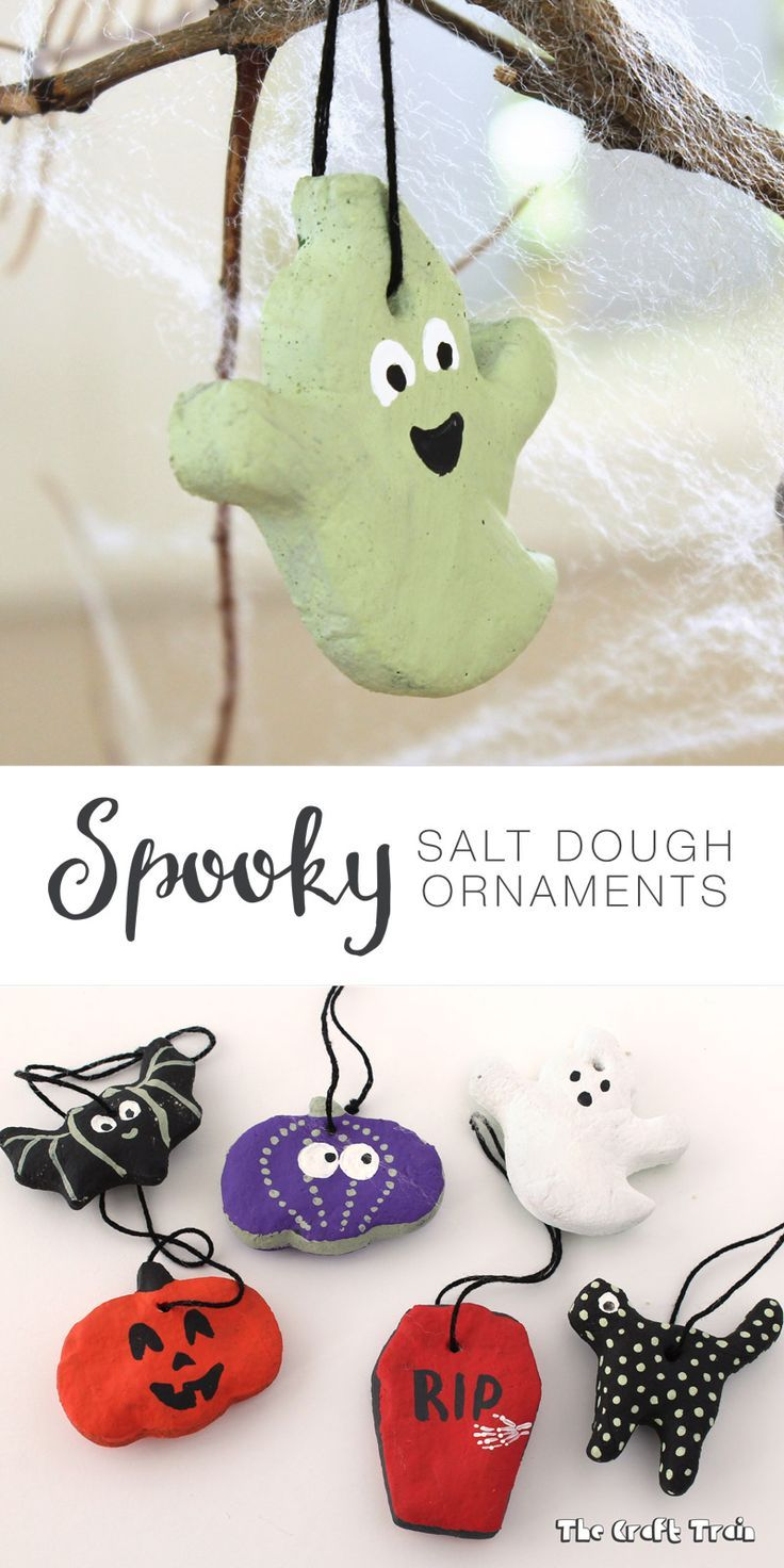 Halloween Salt Dough Ornaments