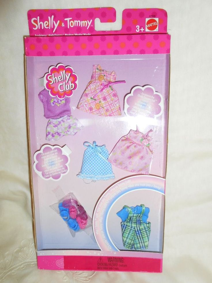 NEW 2002 Mattel Shelly Club Barbie Sister Kelly size Shelly & Tommy Fashions #4 #ClothingShoes