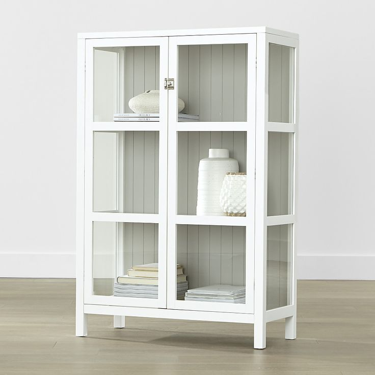White Cabinets With Black Glazing: Shop Kraal White Cabinet. Finished In Fresh White, This