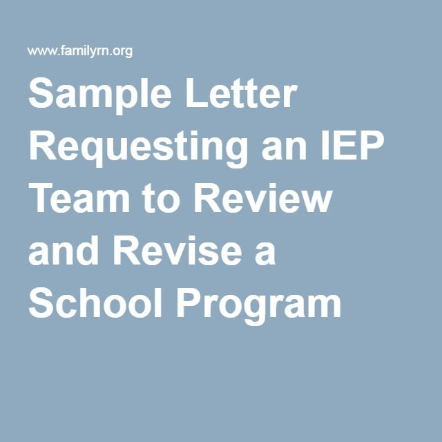27 best IEP Sample Letters images on Pinterest Letters - sample letter of support