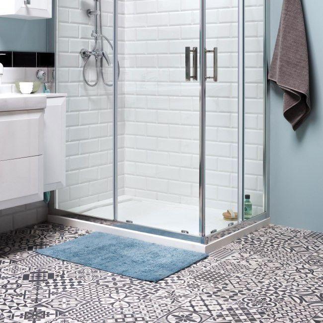 Gres Heritage 33 15 X 33 15 Cm Czarny 1 32 M2 Gres Heritage Bathroom Bathtub