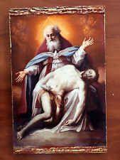 God and Jesus Christ- handmade Greek orthodox Russian byzantine icon