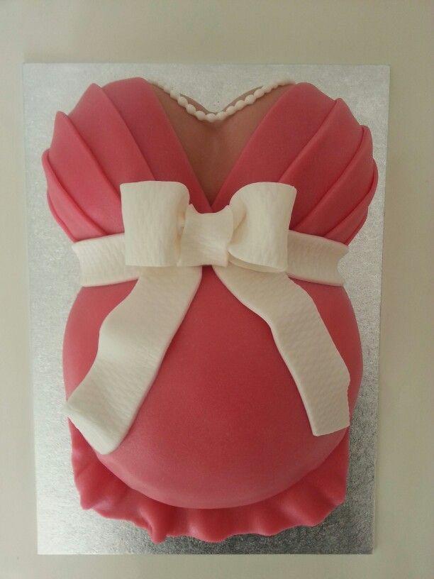 Pregnant belly cake / zwangere buik taart