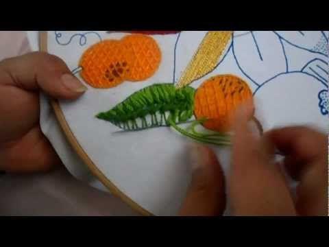 Relleno con puntada de encaje. Procesos Básicos, Stumpwork. Editorial Toukan - YouTube