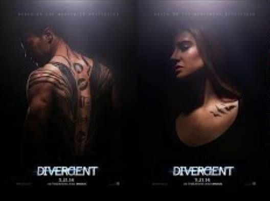 LEAKED: Divergent posters (VERY low quality!) BUT STILL!! The tattoos!! Fours back! Tris!!!! Ooo, so dramatic! So intense!!! :O