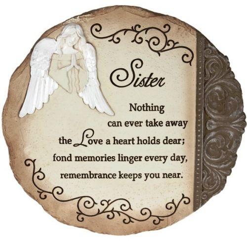 """Loss Of Sister"" Angel Memorial Garden Stone Memories"