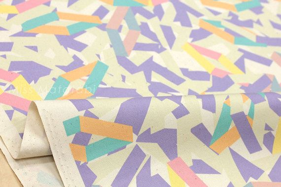 Japanese Fabric Kokka Jubilee -Printed Matter Lines Printed - B