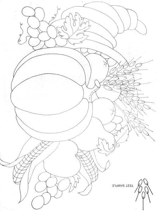 Vintage Embroidery Patterns cornaquopia | and corn cobs fill this cornucopia. It is a perfect embroidery pattern ...