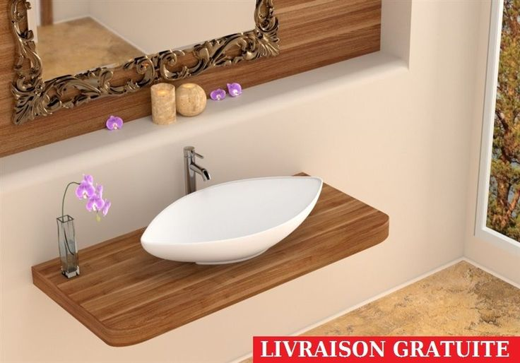 Lavabo / lave-mains en céramique MOON vasque à poser MAGNIFIQUE ! in Bricolage, Plomberie, sanitaires, Lavabos, vasques   eBay