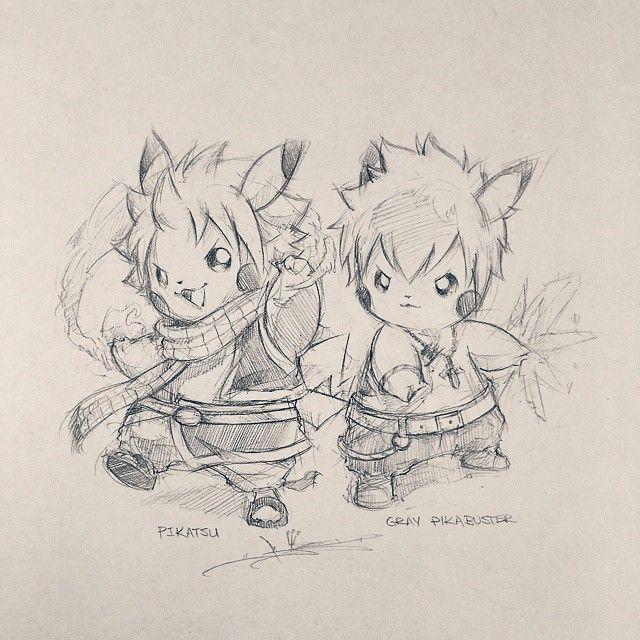 Artist: Itsbirdy | Fairy Tail | Pikachu