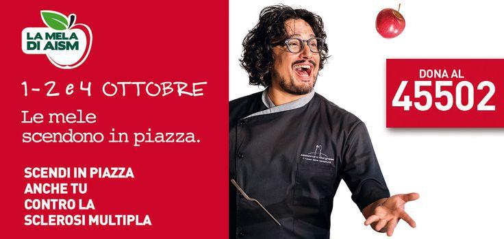 """Lo Chef Alessandro Borghese per la """"Mela di AISM"""" 2016  Associazione Italiana Sclerosi Multipla"""