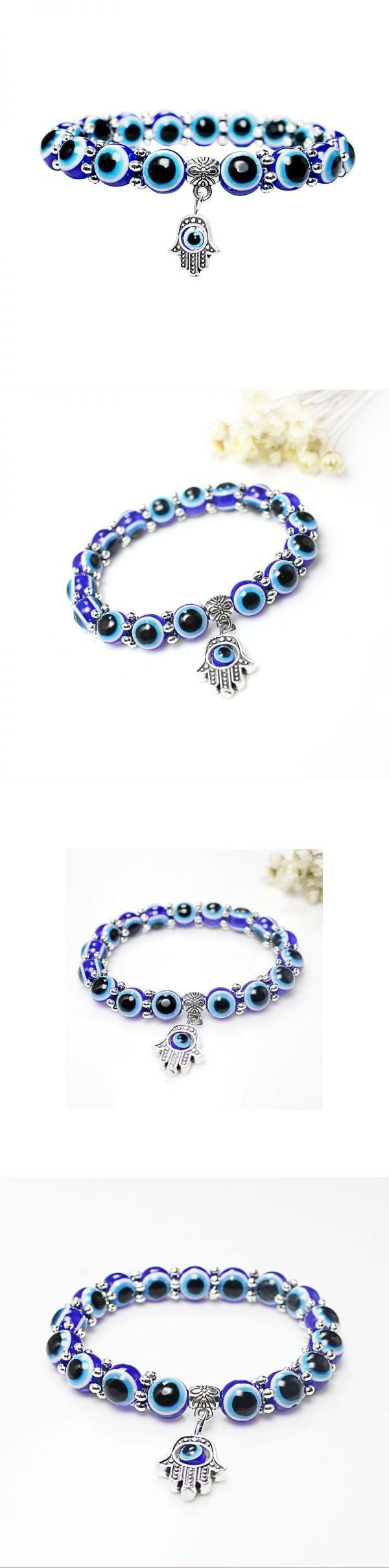 Bracelets john hardy vintage resin fatima hand blue eyes beads trendy elastic bracelet  for women #7 #chakra #bracelets #bracelets #qvc #isabella #m #bracelets #quinceanera #bracelets