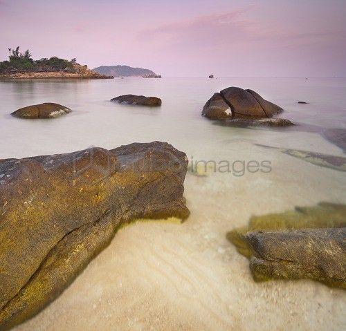 Morning mood on the Haad Khom Strand, Koh Phangan Island, Thailand