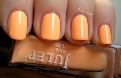 New peach nail polish!: Peach Nail Polish, Peach Nails, Peaches Polish, Peaches Nails Polish, Nailpolish, Hair Nails Makeup, Neon Peaches, 2 Stories Closet, Summer Colors