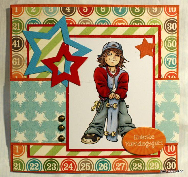 bursdagskort for gutt birthdaycard for boy