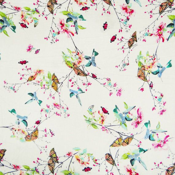 Asian Butterfly Print Fabric - Porn Archive-6600