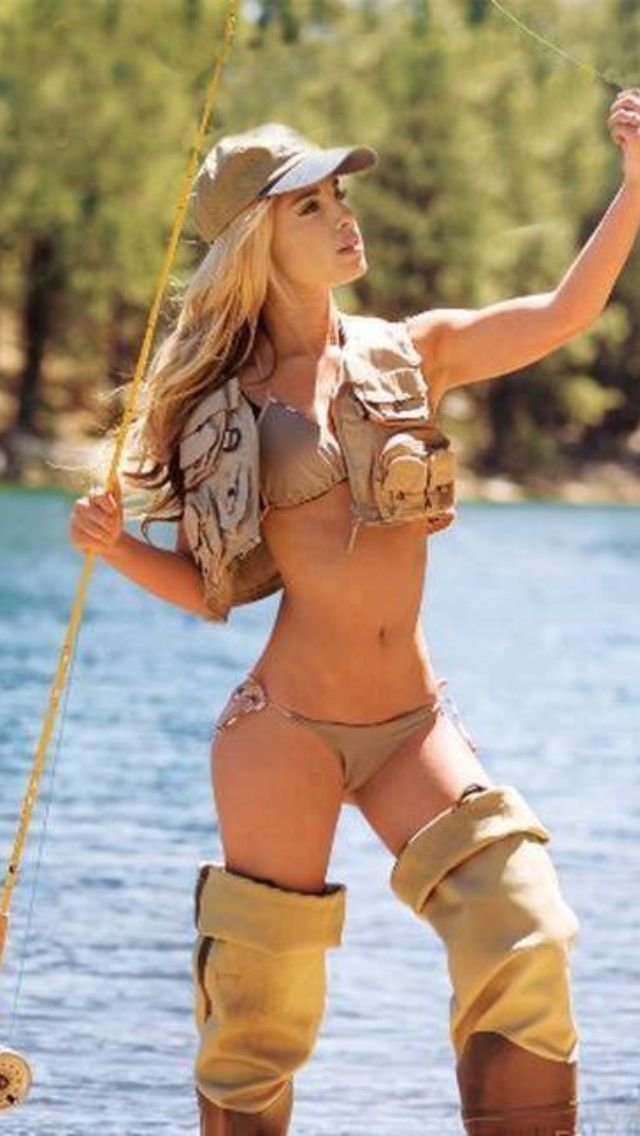 261 best images about fishing women in bikinis on for Hot girls fishing