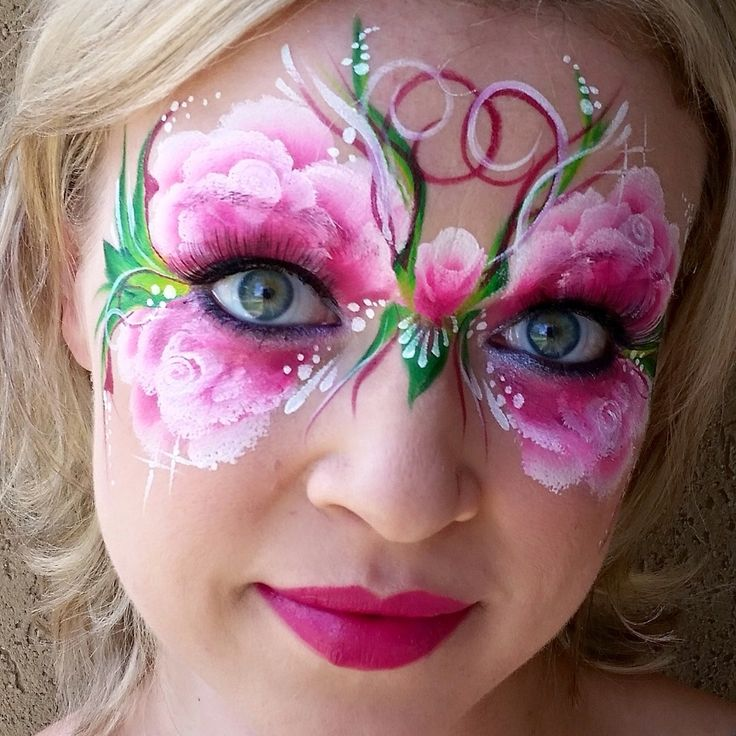 Stunning rose butterfly by Cameron Garrett. Mask PaintingBody PaintingButterfly FacePainted ...