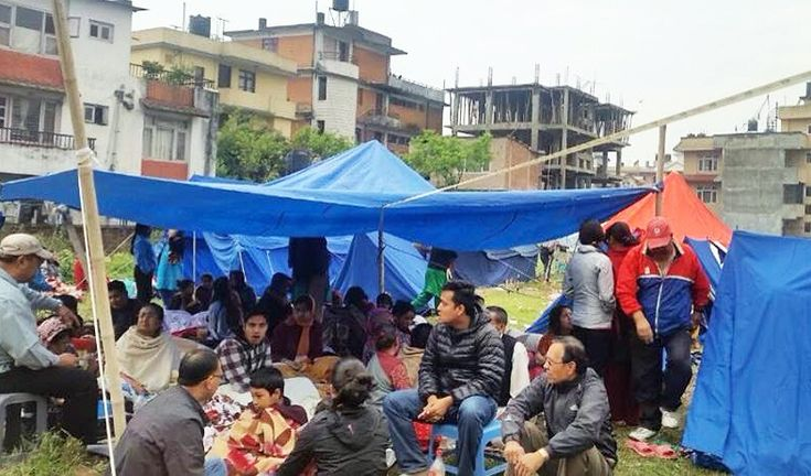 Nepalese earthquake shelter. A second earthquake in Nepal. Help now with the Green Tara Trust's  fund.