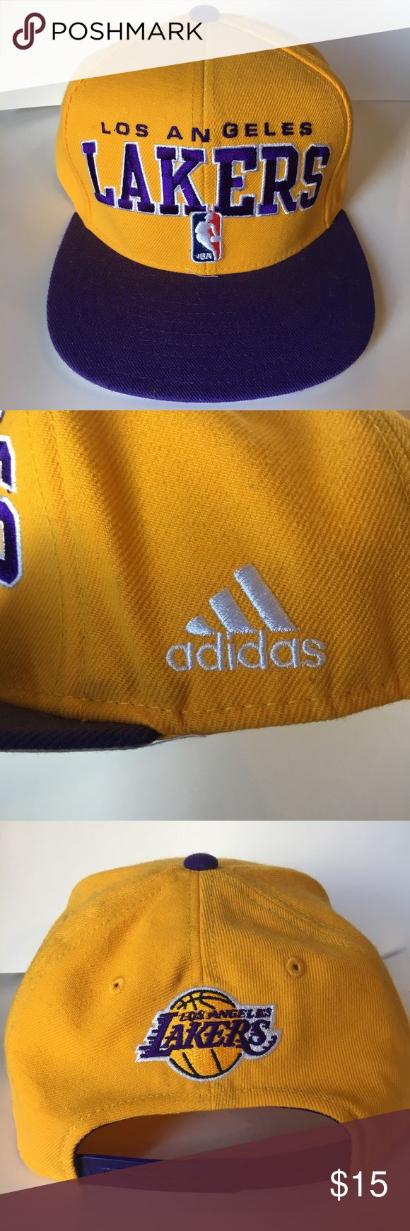 CLOSET CLEAR-OUT NBA LA Lakers Hat NBA Los Angeles Lakers Hat in perfect condition. Adjustable strap. Unisex. #K237 Adidas Accessories Hats