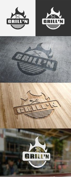 Create a modern classic logo for a high-end barbecue tools and accessories brand by pentool29