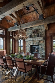 rustic architecture & design photography, big sky, montana, centre sky architecture, teton heritage builders, carole sisson designs, custom log homes