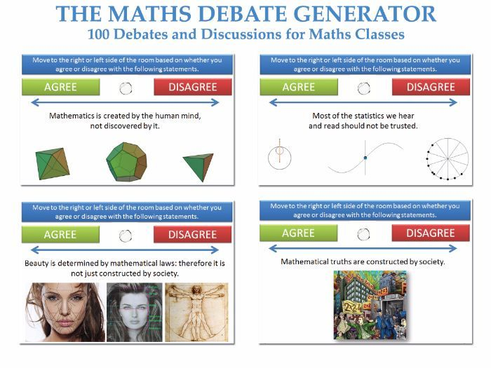 Created by a Philosophy teacher and experienced formal debater in collaboration with his colleagues in the Maths department.<br /> <br /> This PPT file contains 100 debates and discussion relevant to the study of mathematics and, especially, 'The Philosop...