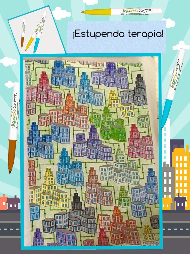 Libera el estrés dibujando y coloreando con tus productos Azor.  #terapia #mandala