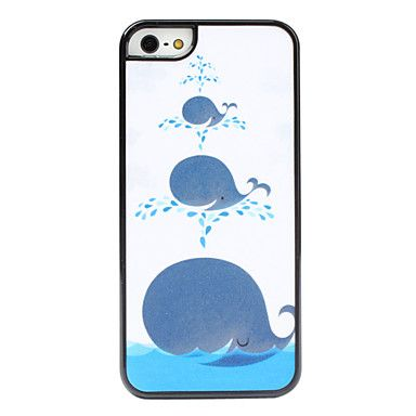 Whale Pattern Hard Case for iPhone 5/5S – USD $ 3.99