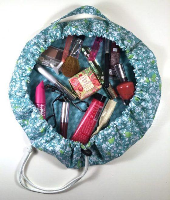 Drawstring Makeup Bag PDF Sewing Pattern from Merge Bags