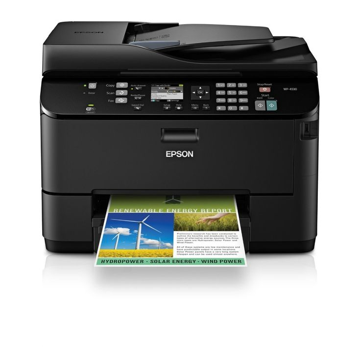 Epson WorkForce Pro WP-4530 Wireless All-in-One Color Inkjet Printer, Copier, Scanner, Fax, iOSTabletSmartphoneAirPrint Compatible C11CB33201 Printer Reviews 2015
