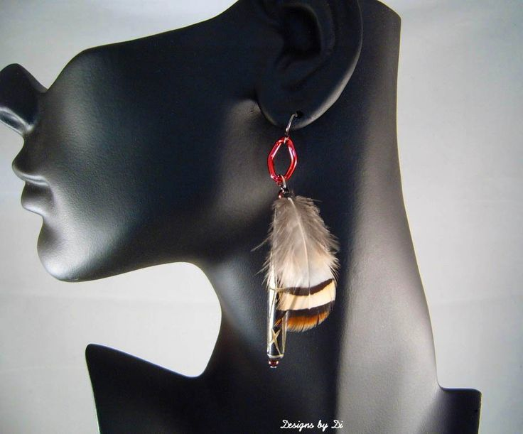 Earrings that go with the Rosy Red Breastplate Necklace