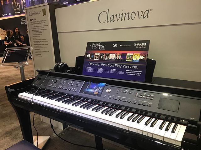 Spent some #geekout time banging on this @yamahamusicusa #clavinova cvp-709 #piano with cool band room features at #namm