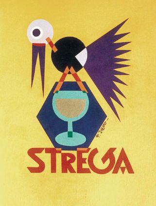 Illustration by Fortunato Depero, Strega. (I)