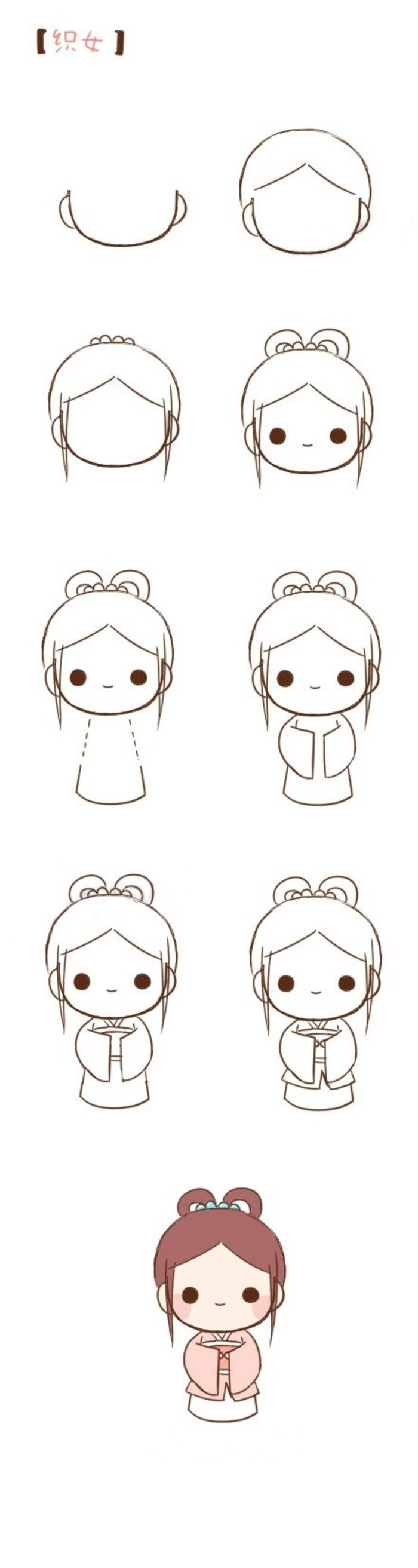 Find This Pin And More On Paint I Gotta Draw Well How To Draw Kawaii Girl