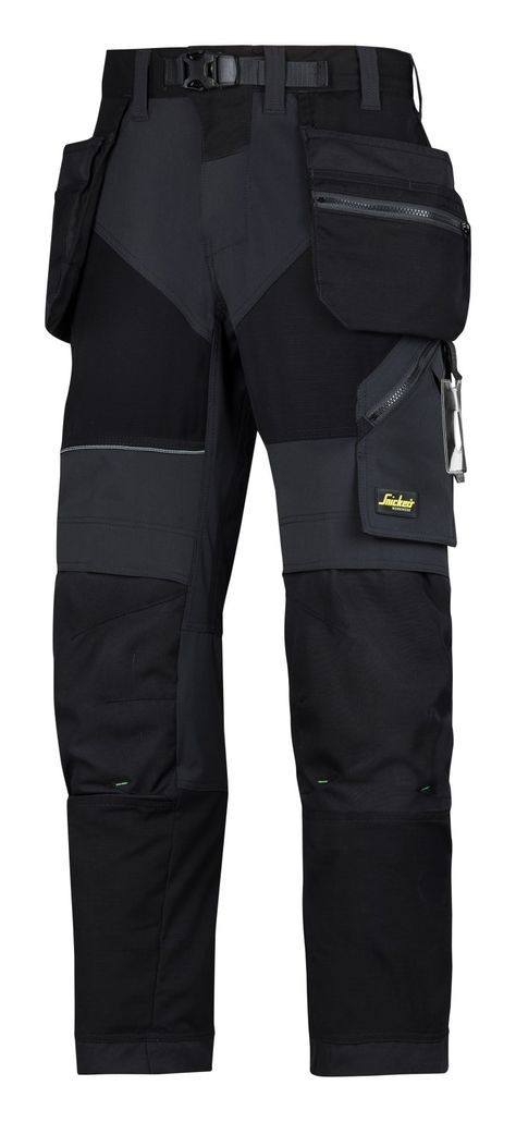 Taking working comfort and flexibility to the extreme. Super-light work #trousers in high-tech body-mapped design, combining ventilating stretch fabric with Cordura® reinforcements and holster pockets for outstanding freedom of movement and functionality. - Snickers Workwear Artnr. 6902