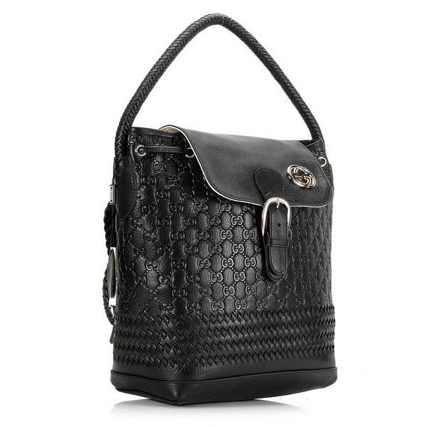 Gucci Guccissima Leather Black Shoulder Bag 251157 [dl15317] - $228.49 : Gucci Outlet, Cheap Gucci online,Gucci UK