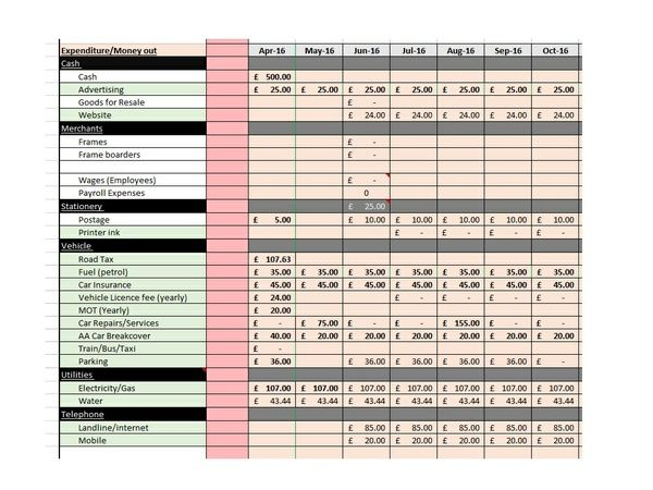 Self Assessment cashflow made simple with this spreadsheet, it is ready for you to add your data and do your tax return today by #tatedevros #businessaccounts