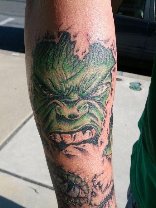 Hulk Tattoo - http://16tattoo.com/hulk-tattoo/