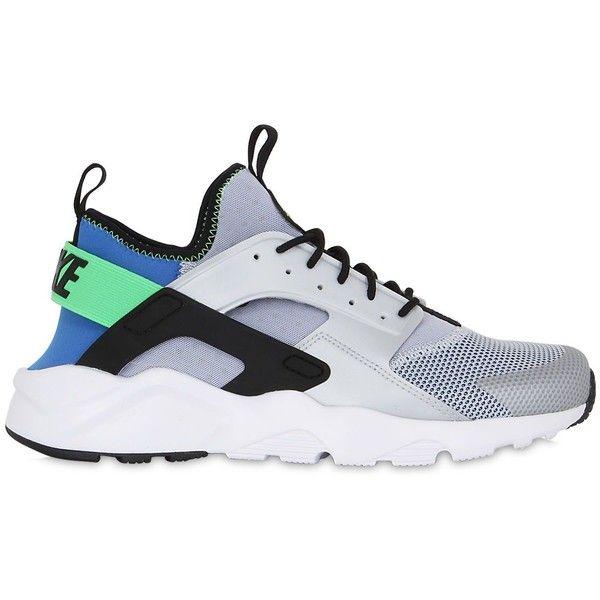 Nike Men Air Huarache Run Ultra Mesh Sneakers ($170) ❤ liked on Polyvore featuring men's fashion, men's shoes, men's sneakers, mens shoes, mens mesh sneakers, nike mens sneakers, mens sneakers and nike mens shoes