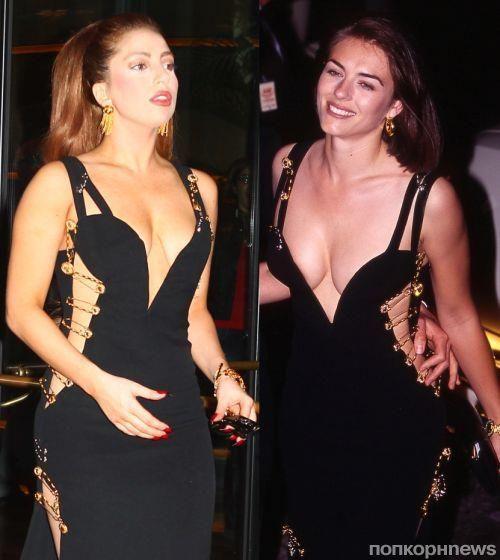 Элизабет херли и ее платье