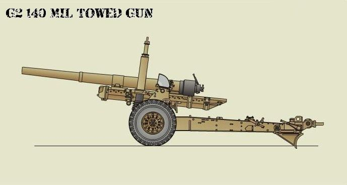 g2 140 mil towed cannon