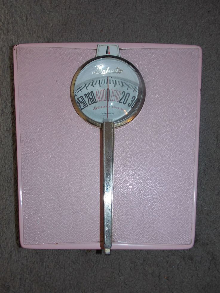 Vintage 1950s Mid-Century Retro Detecto PINK Bathroom Scale Permanently Adjusted