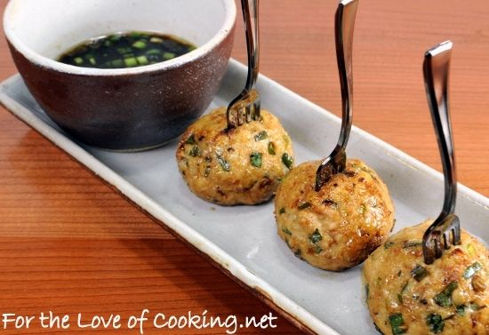 """<p>A healthy and delicious twist on meatballs.</p> <p><a href=""""http://www.fortheloveofcooking.net/2012/08/asian-turkey-meatballs-with-a-lime-sesame-dipping-sauce.html""""><strong>SEE RECIPE HERE:Asian Turkey Meatballs with a Lime Sesame Dipping Sauce</strong></a></p>"""