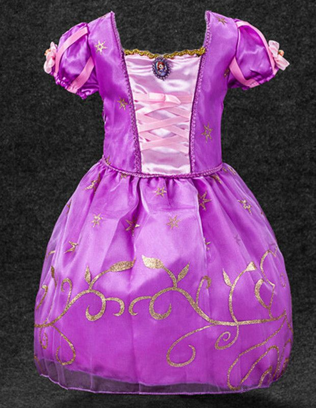 New Cinderella Princess Fancy Dress for Girls Child Halloween Costume