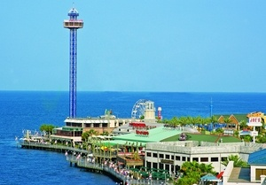 Kemah Boardwalk in Kemah, Texas. It overlooks Galveston bay and features many restaurants, shops and amusements. Love this place!