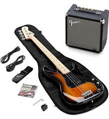 Squier By Fender - Affinity Precision Bass - Electric Bass Starter Pack (Brown Sunburst)