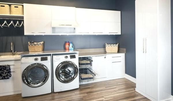 Laundry Closet Cabinets Custom Laundry Room Cabinets With Fold Out