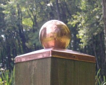 6x6 Copper Fence Cap - ball | Gardening | Pinterest | Fence Post Caps ...