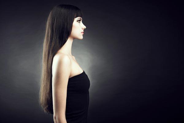 Bangs make long hair seem even longer!
